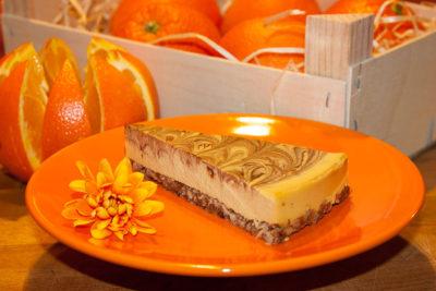 Pomerančový raw dort