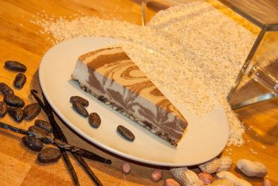 Sezamový chalva dort