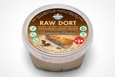 Sezamový chalva raw dort v kelímku