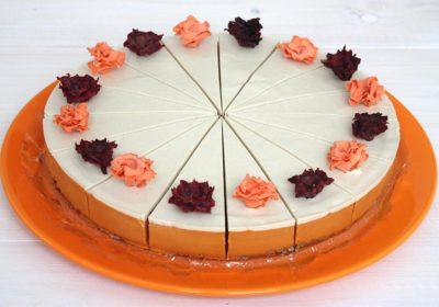 Šípkový raw dort