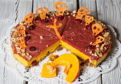 Dýňový raw dort Halloween
