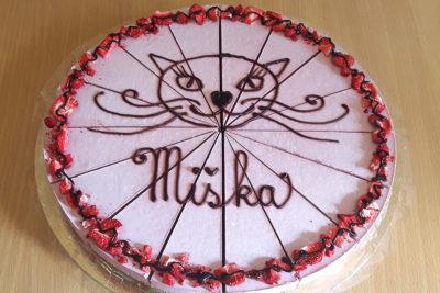 Jahodový raw dort Miška