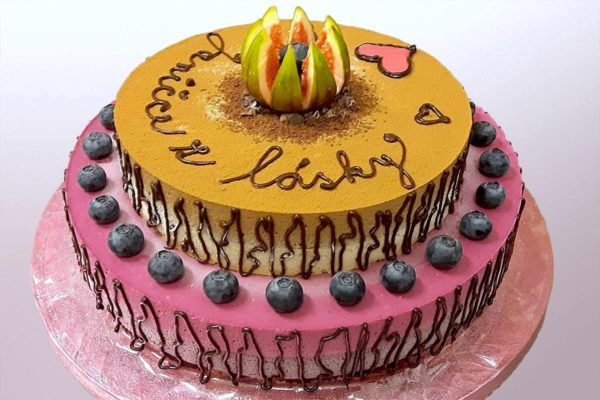 Patrový raw dort Janičce z lásky