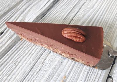 Čokoládový 'brownie' raw dort dílek